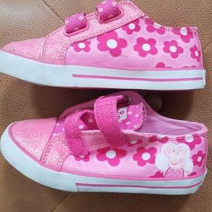 Peppa Pig Velcro Sneakers Sz 11